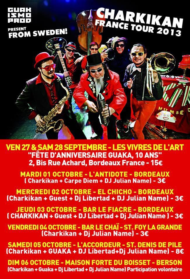 Los Charkikan Tour Carpe Diem El Chicho