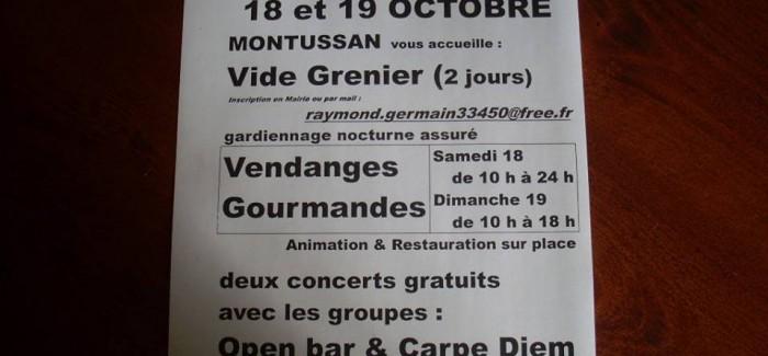 Vendanges gourmandes – Vide Grenier (Montussan)