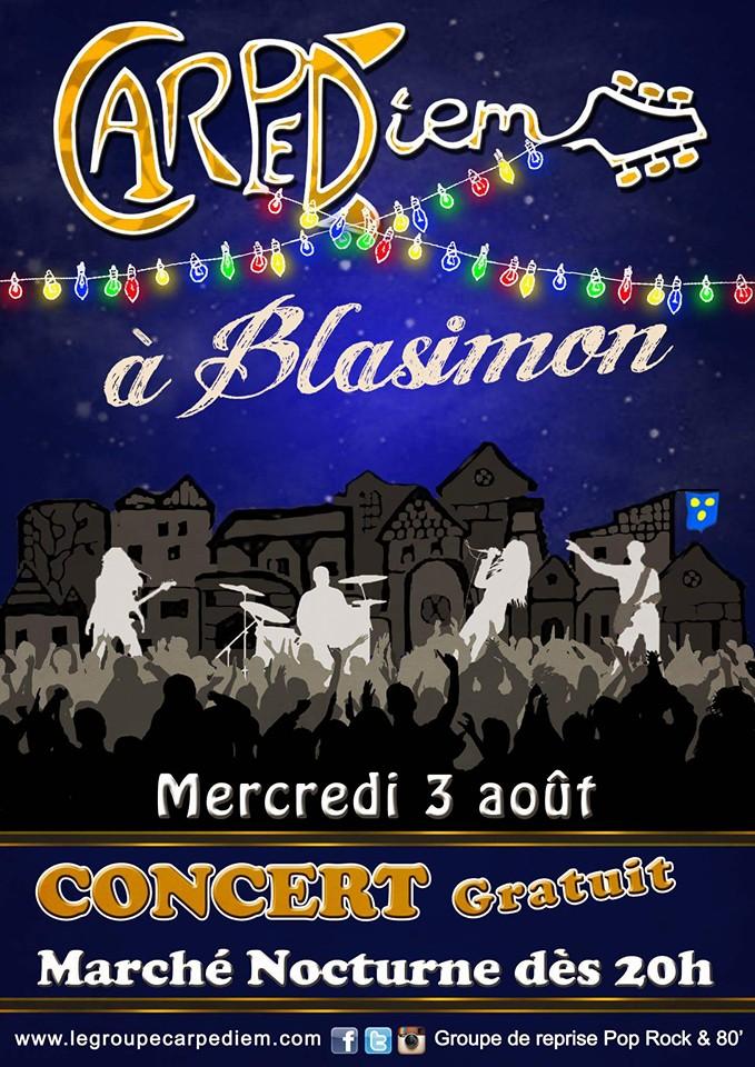 Concert blasimon carpe-diem capediem marché-nocture